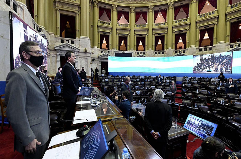 sesión virtual Cámara de Diputados de la Nación