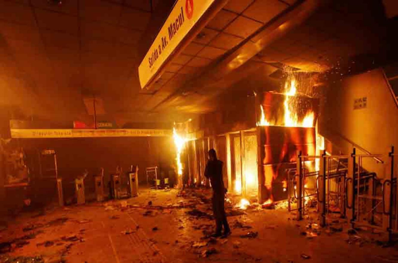 protestas en el Metro de Chile