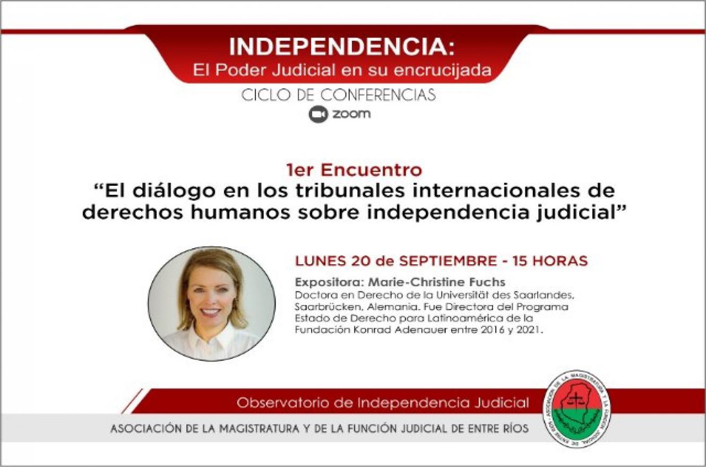 """Invitan al ciclo de conferencias """"Independencia: el Poder Judicial en su encrucijada"""""""