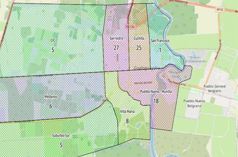 mapa epidemiológico Gualeguaychú