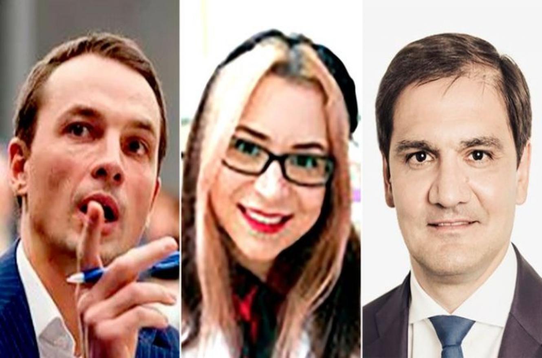 Alexander Zhuravlev, vicepresidente del Fondo, Tagir Sitdekov, director ejecutivo del Fondo, y Natalya Bogush, técnica del Instituto de Investigación de Proteínas.