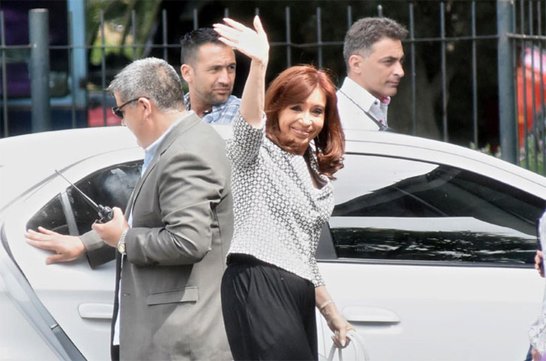 Imagen de archivo de Cristina Kirchner dirigéndose a los Tribunales de Comodoro Py.