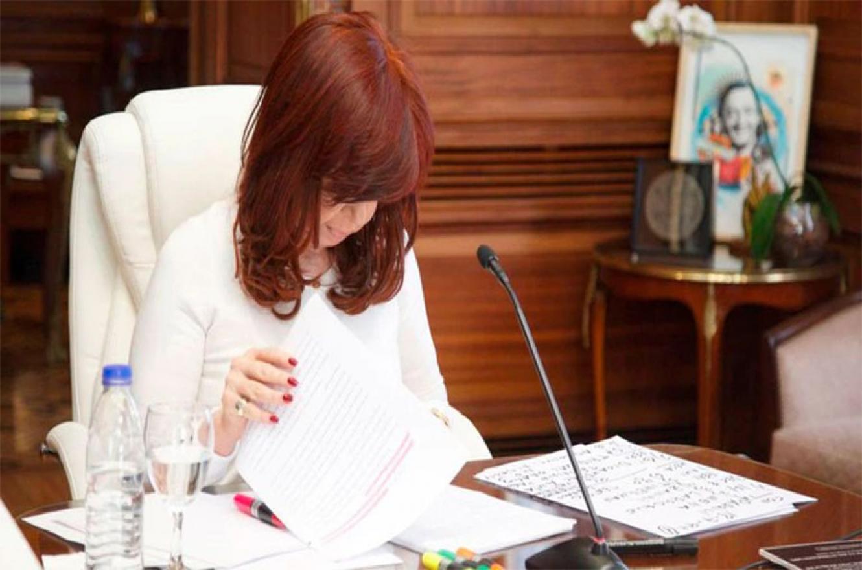 Cristina Kirchner durante la audiencia de la causa por el Memorandum con Irán.