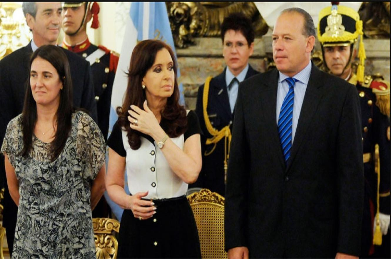 Cristina Kirchner con Sergio Berni