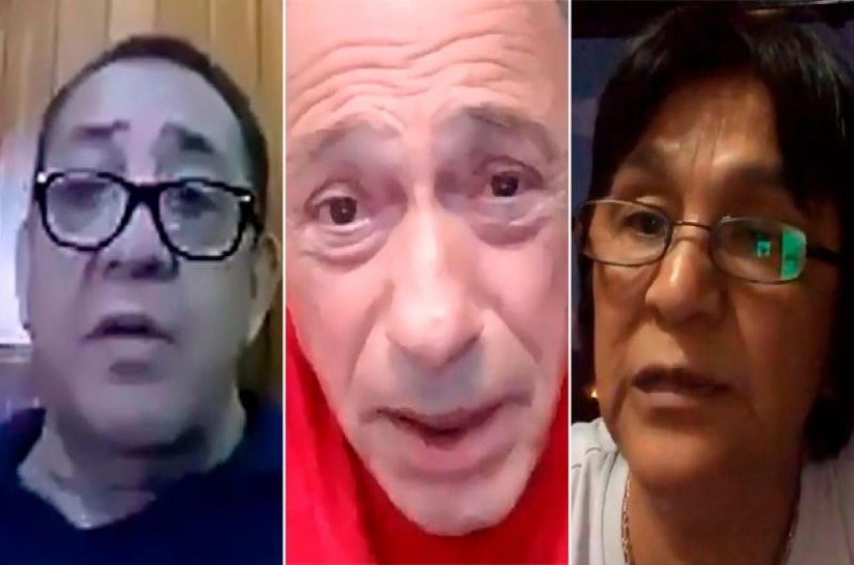Luis D'Elía, Eugenio Zaffaroni y Milagro Sala