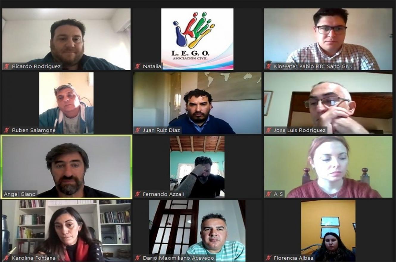 Giano tuvo un encuentro virtual con ONG como Rotary Club Concordia, Rotaract Club Salto Grande, Asociación Arandú, la Asociación Civil Lego, la Cooperativa Cultural Vuelta Cambota, Fundación Ser y Hacer.