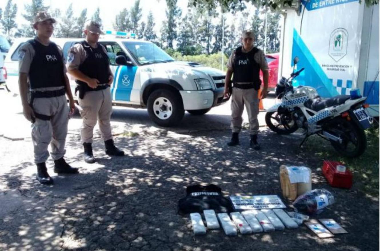 Secuestraron 7 kilos de droga que eran transportados en un colectivo