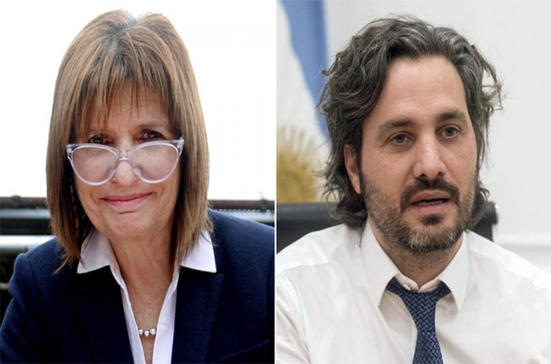 Patricia Bullrich y Santiago Cafiero.