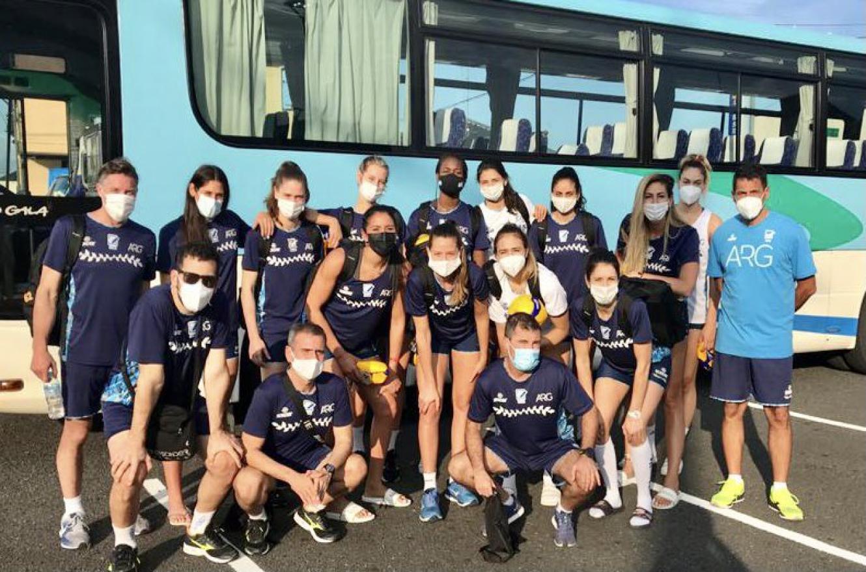 """Vóley: con la colonense Sabrina Germanier, """"Las Panteras"""" llegaron a Japón"""