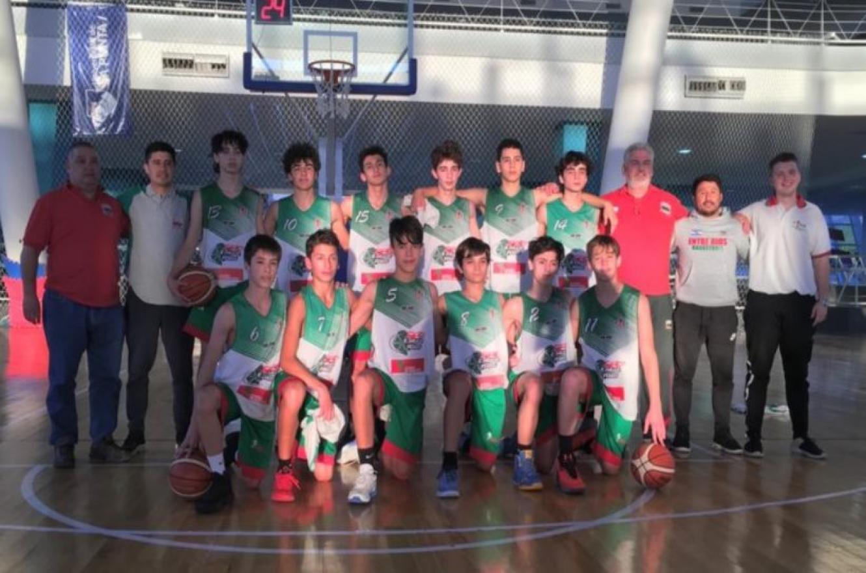 Básquet: Entre Ríos venció a Santa Fe y avanzó primero de su grupo en el Argentino U13