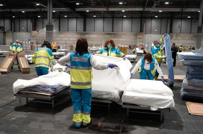 En España hubo 832 muertos por coronavirus en las últimas 24 horas.
