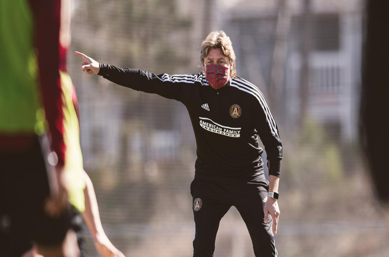 El entrerriano Gabriel Heinze dirigió su primera práctica en Atlanta United