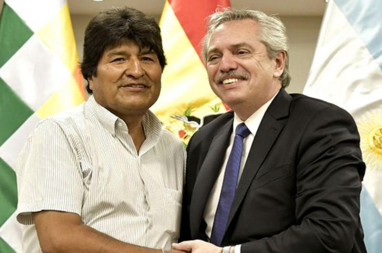 Evo Morales y Alberto Fernández