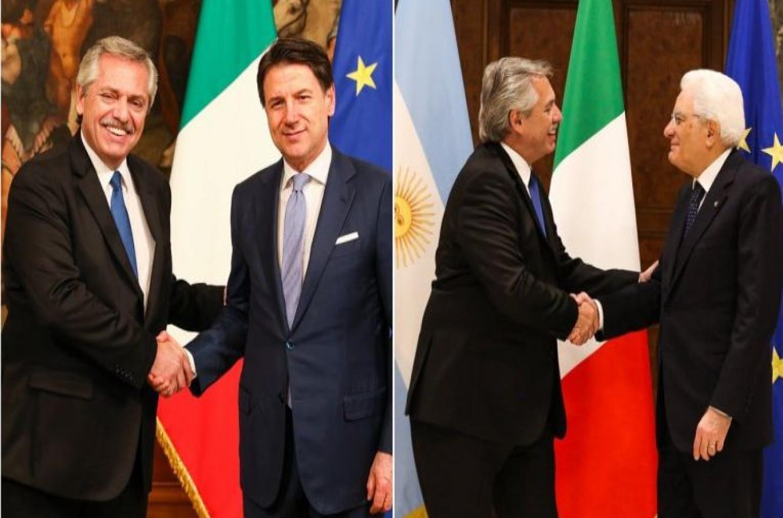 Alberto Fernández en Roma