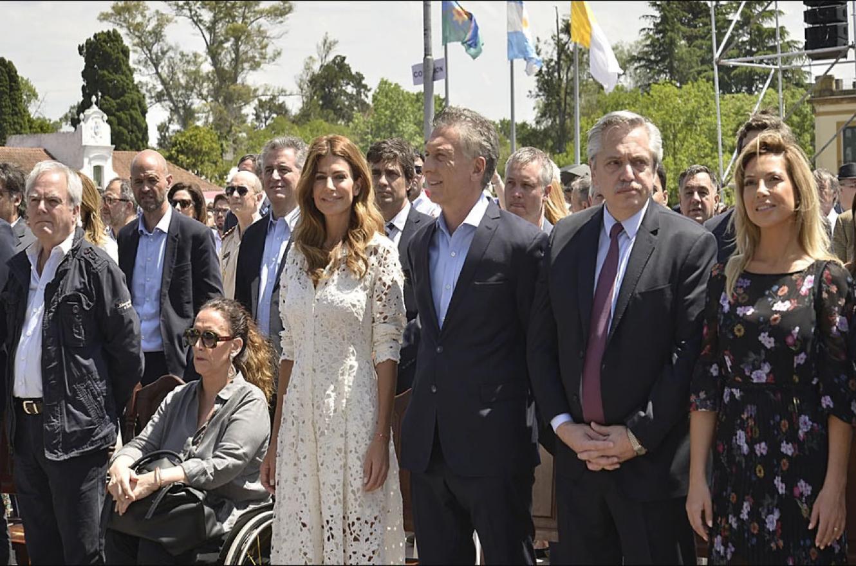 Alberto Fernández y Mauricio Macri en la misa de Luján