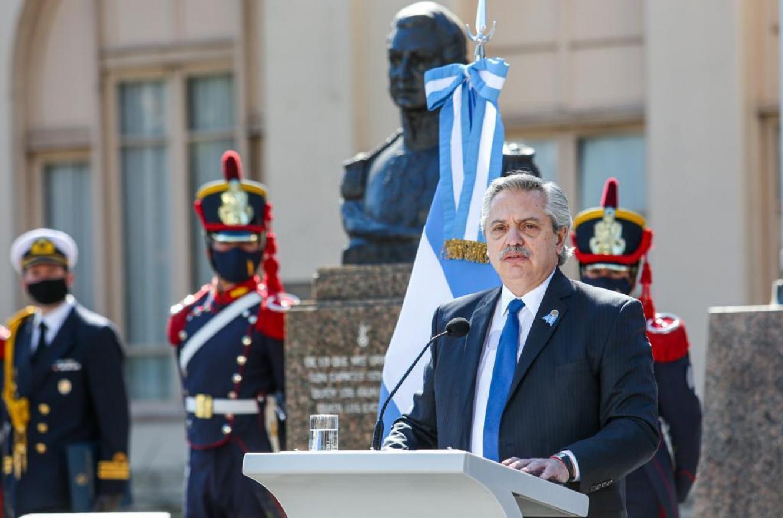 Alberto Fernández acto 17 de Agosto