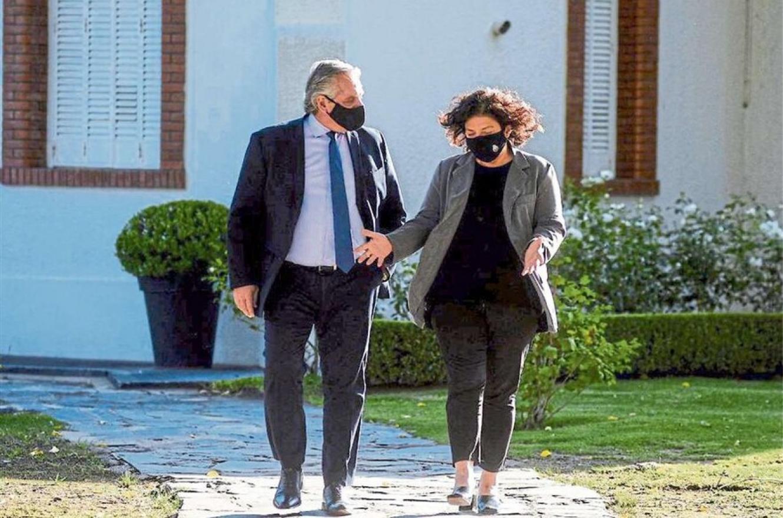 Alberto Fernández con Carla Vizzotti