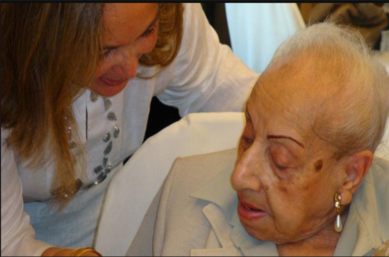 Florentina Gómez Miranda con Susana Medina