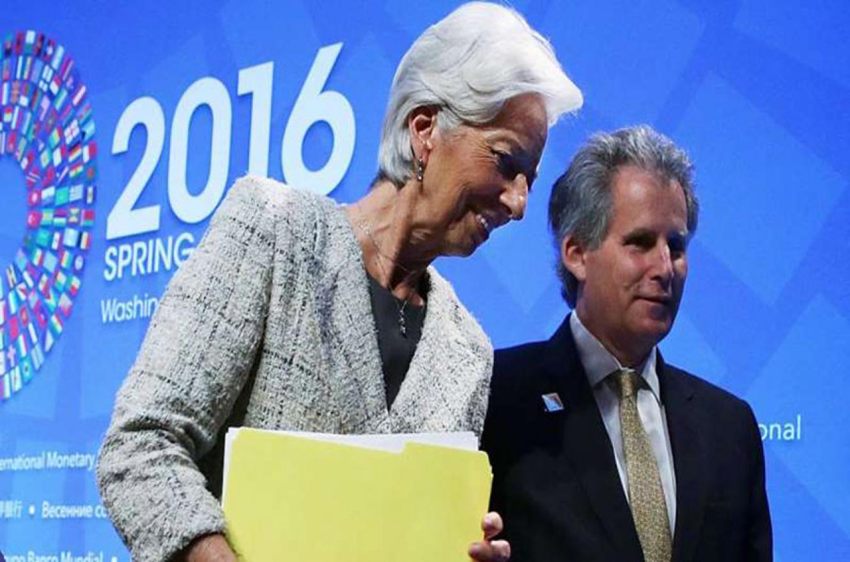 Christine Lagarde, ex titular del Fondo, y David Lipton, director interino.