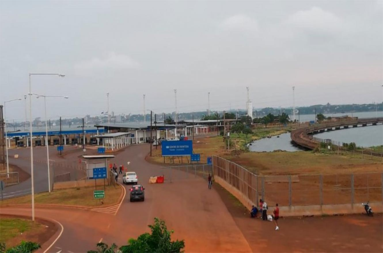 El centro de frontera entre Argentina y Paraguay.