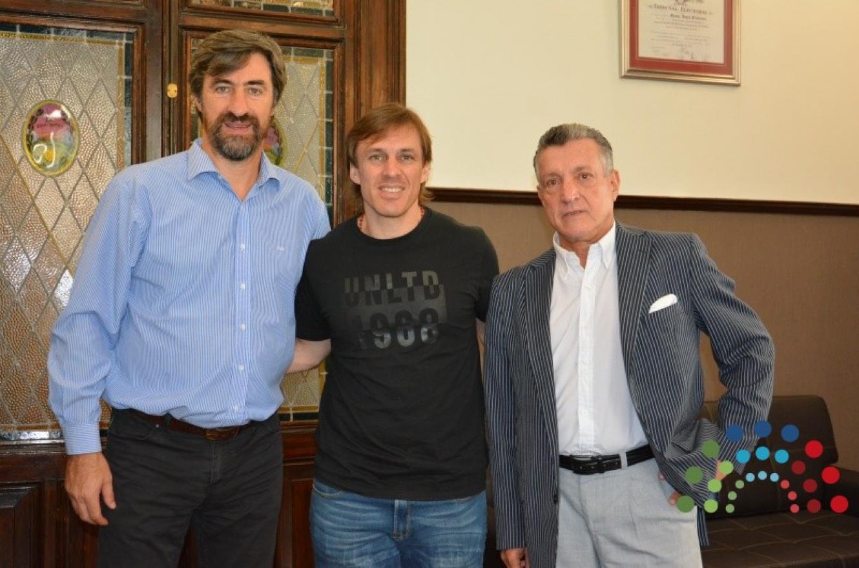 Giano con Zacarías y Gerardo Hollmann