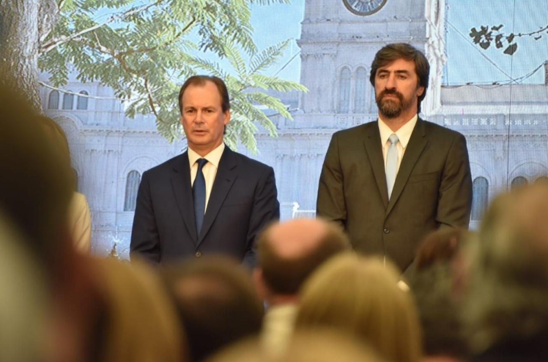 Ángel Giano con Gustavo Bordet