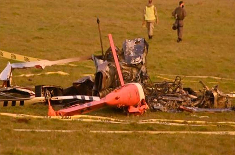 helicóptero caído en Uruguay