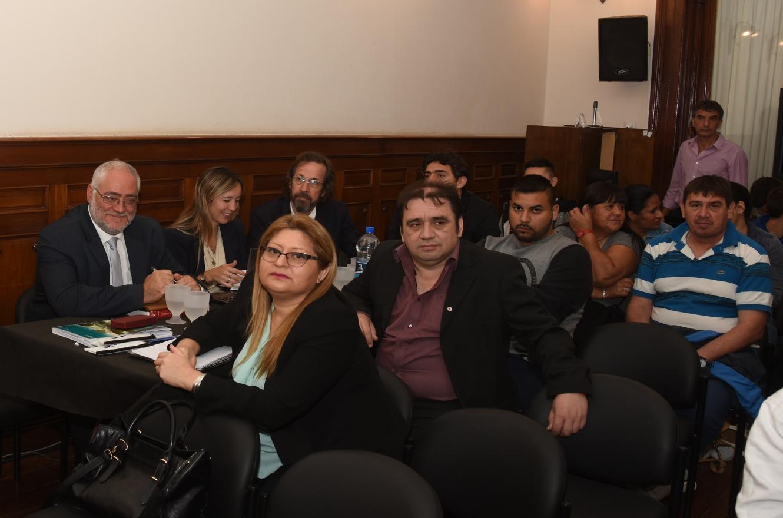 Pablo Hernández y Griselda Bordeira en el juicio