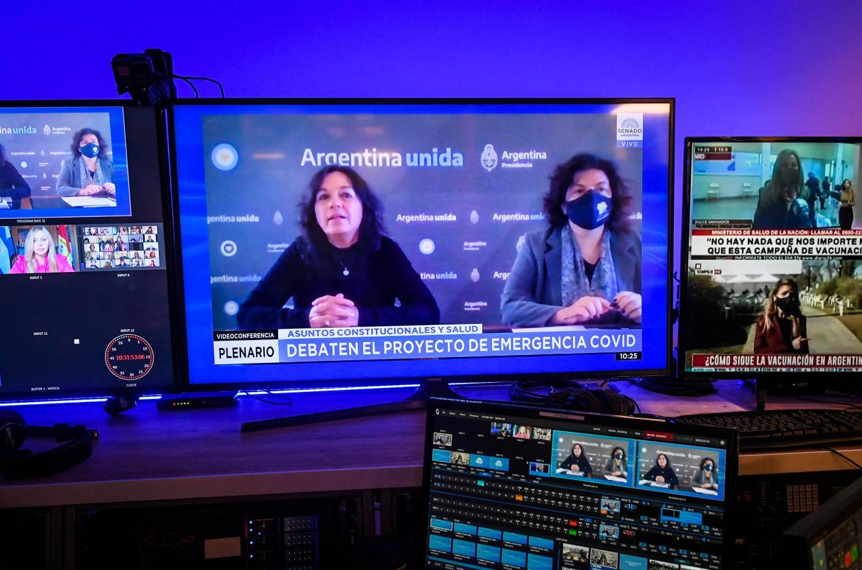 Ibarra y Vizzotti defendieron en el Senado el proyecto sobre las restricciones sanitarias