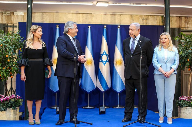 Alberto Fernández con Benjamin Netanyahu