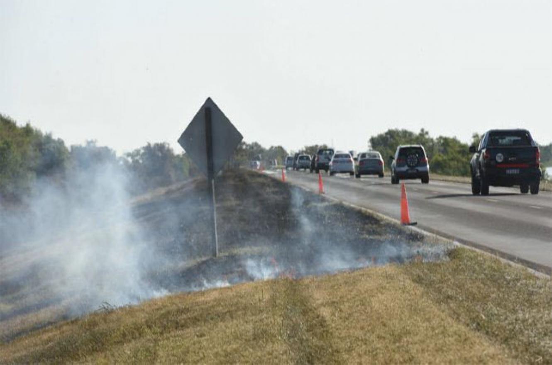 incendio banquina ruta 174