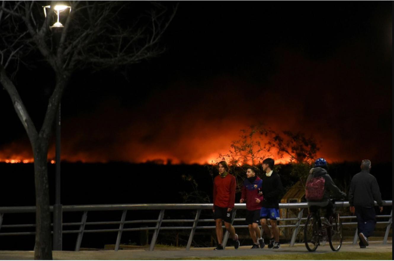 incendios islas Costanera de Rosario