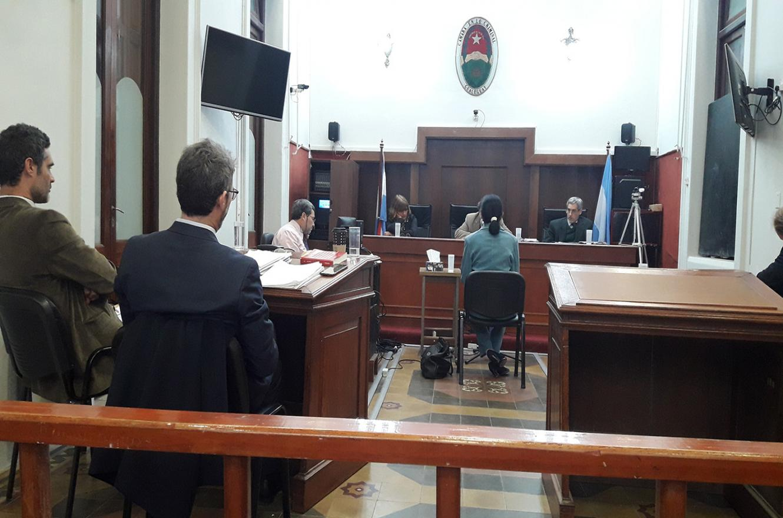 Imagen de la audiencia del juicio contra la madre superiora de las Carmelitas de Nogoyá.