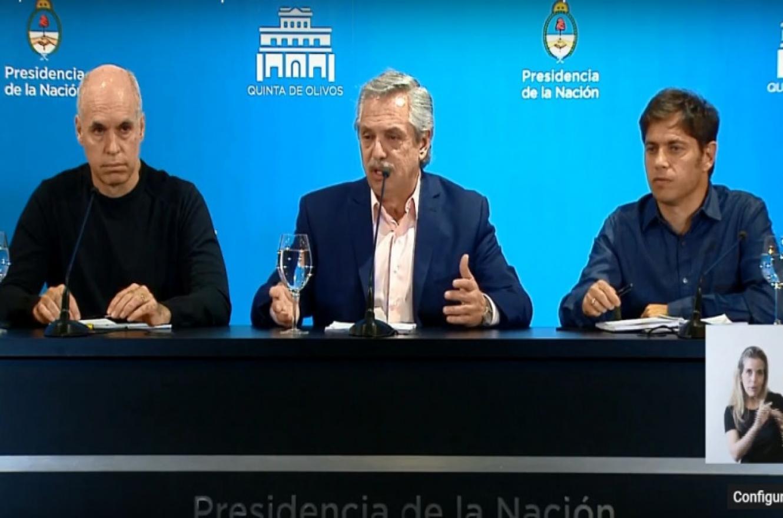 Larreta, Fernández y Kicillof
