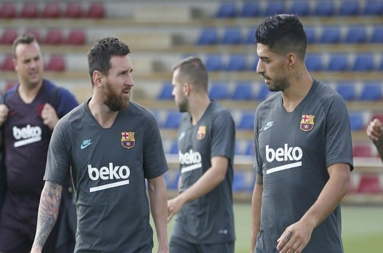 Messi y Suárez