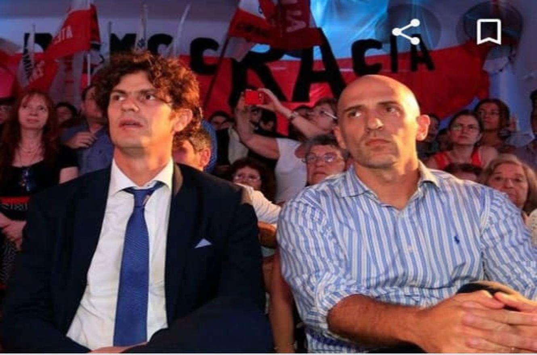 Emiliano Yacobitti junto a Martín Lousteau.