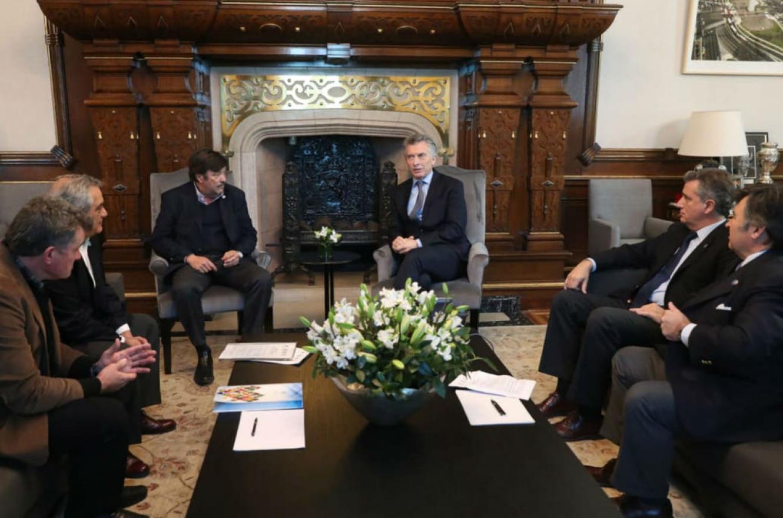 Macri con la Mesa de Enlace
