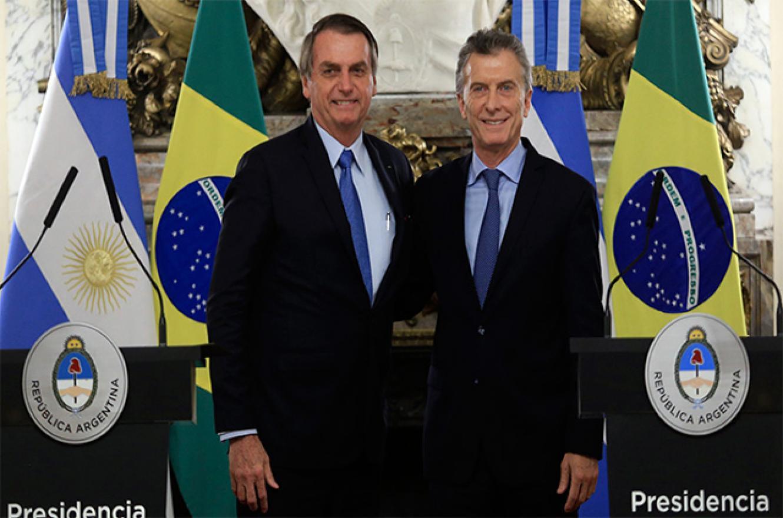 Jair Bolsonaro con Mauricio Macri