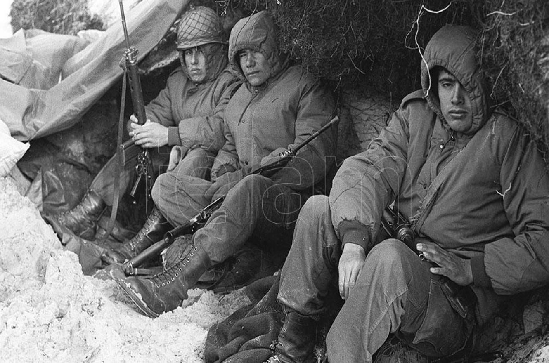Soldados en Malvinas