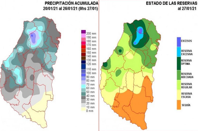 mapa lluvias Entre Ríos
