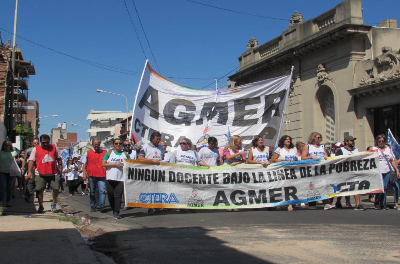 movilización AGMER