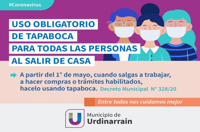 Será obligatorio el uso del barbijo o tapaboca en Urdinarrain | Análisis