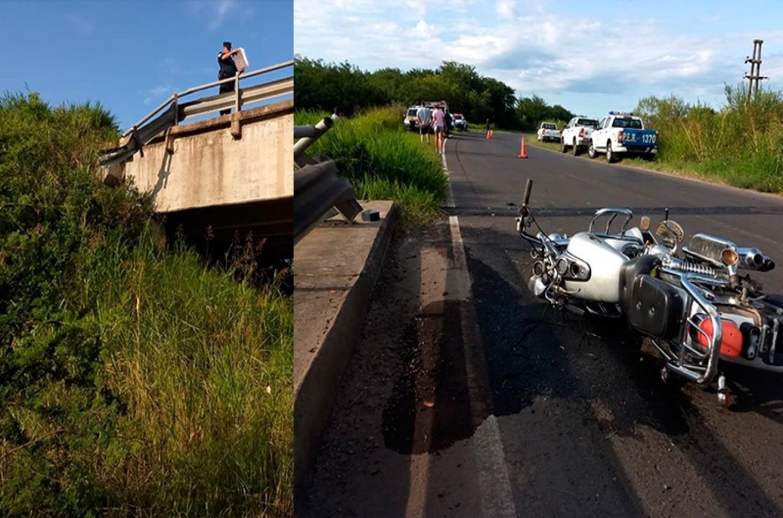 accidente puente ruta 20