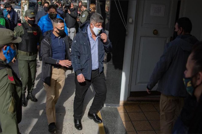 Pablo Moyano en los tribunales de Lomas de Zamora