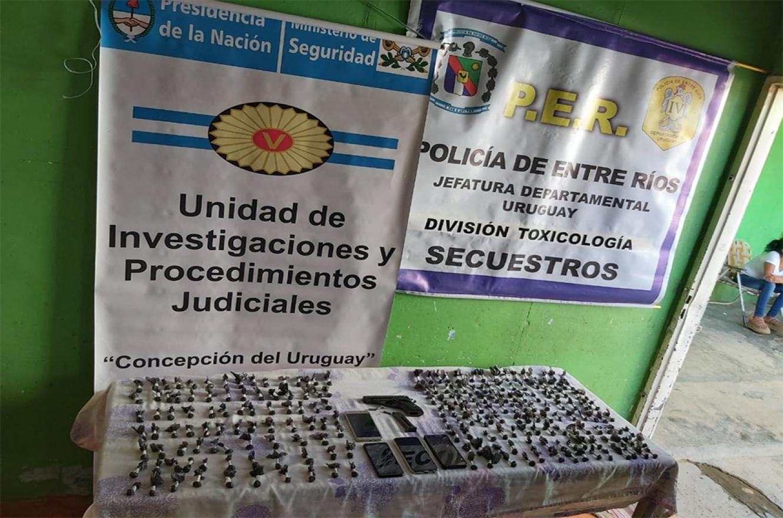 Drogas, armas y rodados se secuestraron ayer en procedimientos vinculados por narcomenudeo en Concepción del Uruguay.