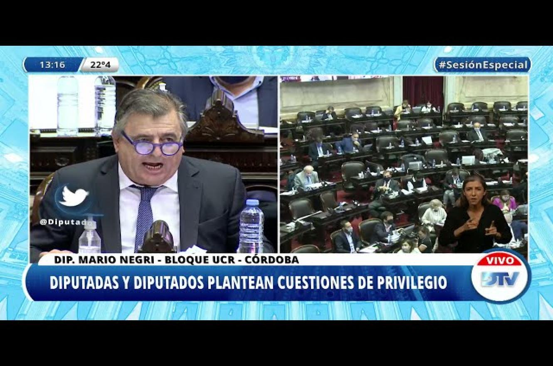 Mario Negri sesión Ganancias