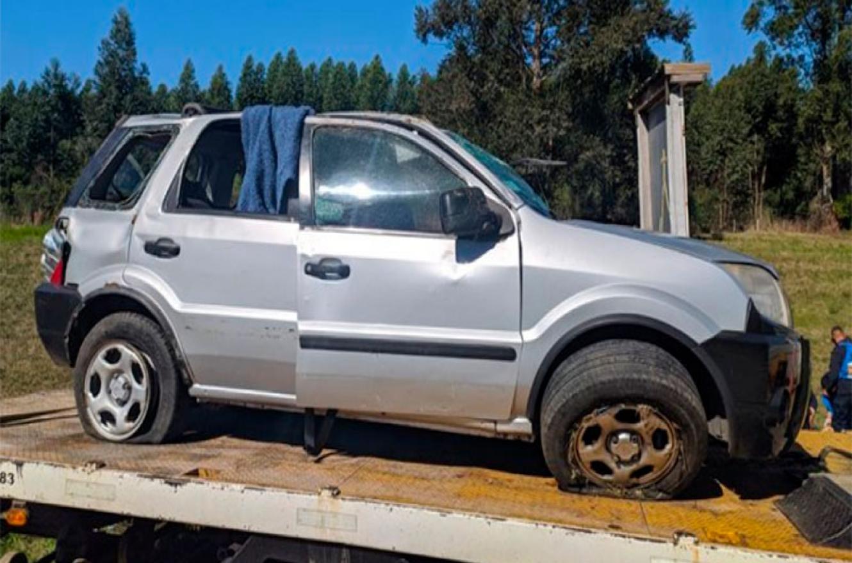 Murió una mujer tras despiste y vuelco en la Autovía Artigas