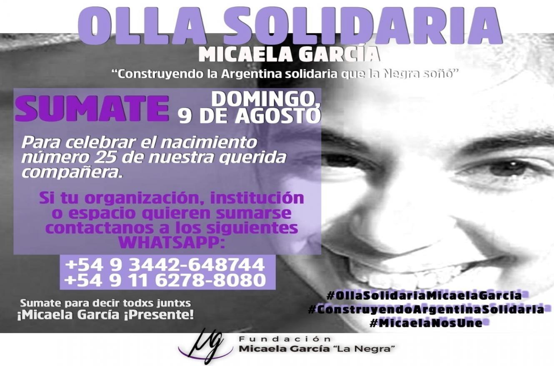 Olla solidaria Micaela García