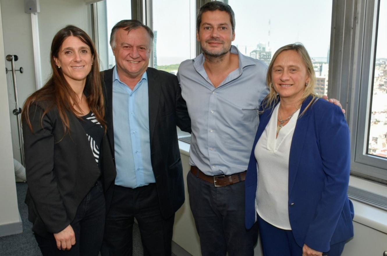 Marisa Paira con José Gómez, Inés Arrondo y Matías Lammens