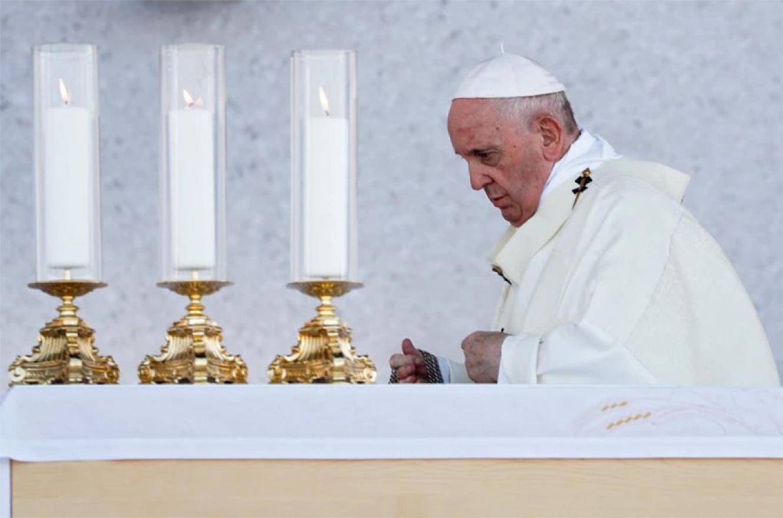 El papa Francisco en su visita a Eslovaquia.